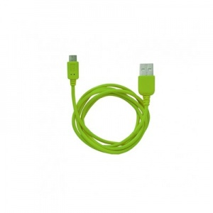 Кабель MicroUSB to USB Super Link Rainbow M Green, 1м