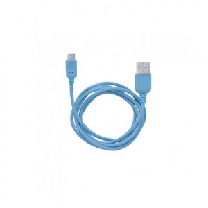Кабель MicroUSB to USB Super Link Rainbow M Blue, 1 м